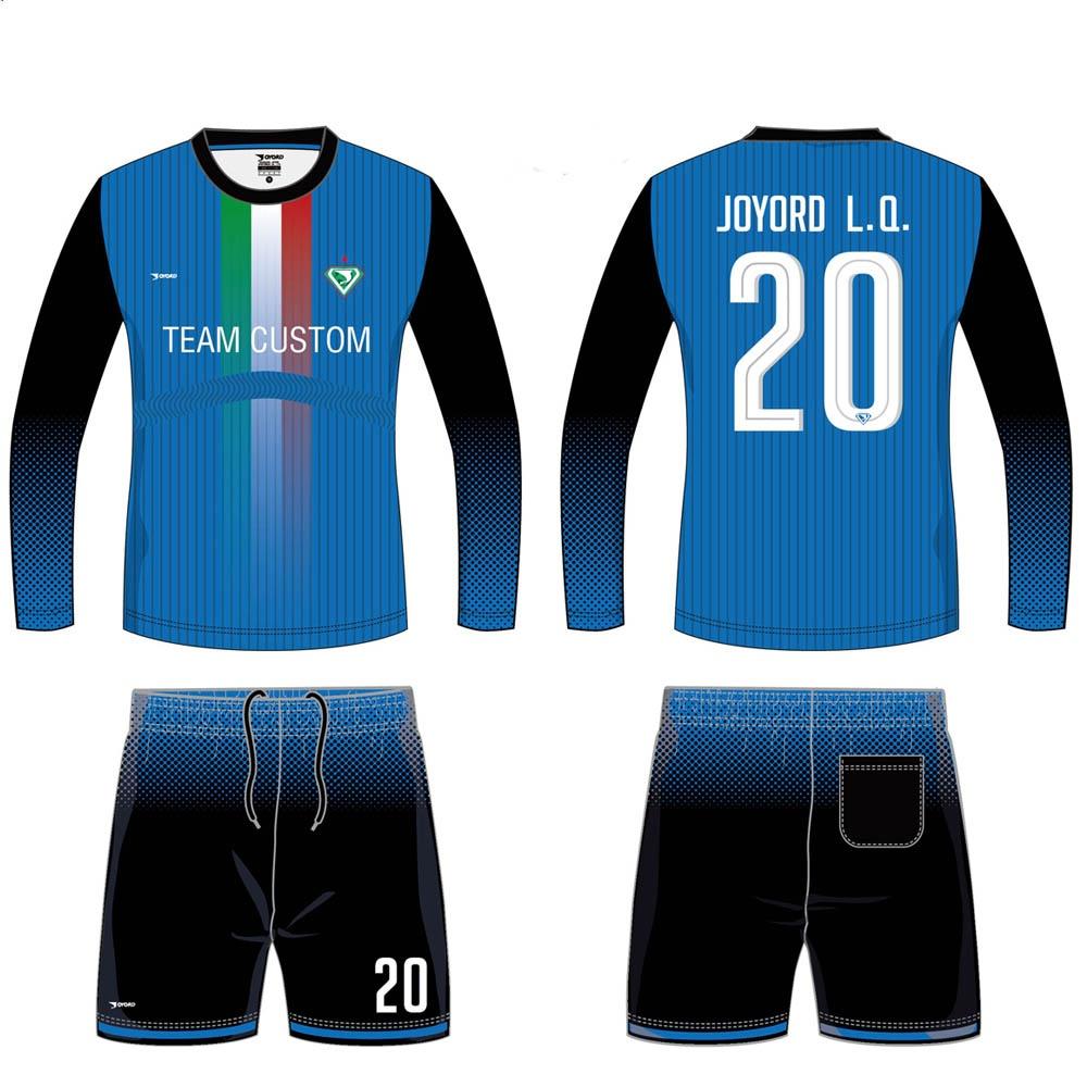 92b072ecf China Supplier 100% Polyester Cheap Custom long sleeve Soccer Uniforms For  Teams