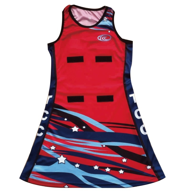 2018 hot selling netball uniforms with patch
