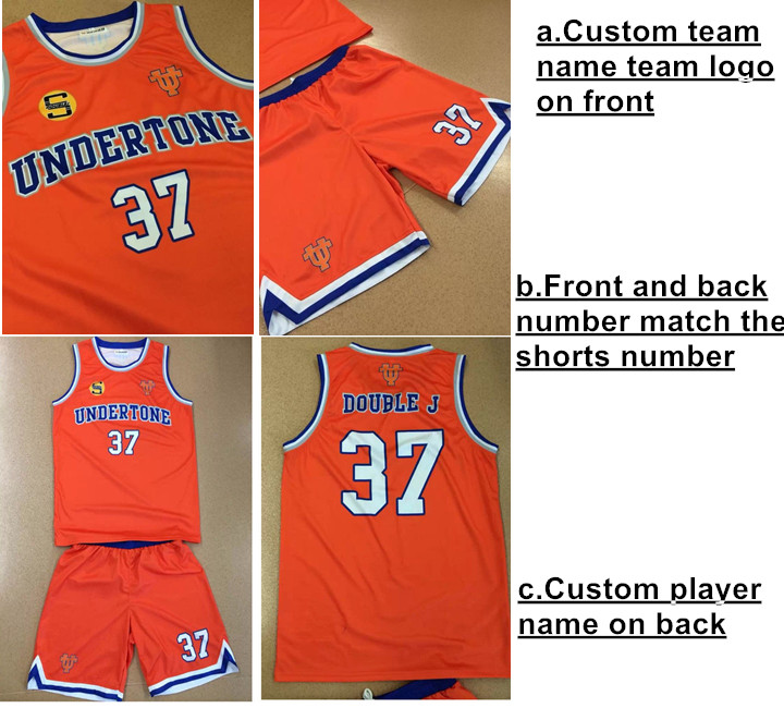 Custom Sublimation Basketball Jersey Uniforms Design China Supplier