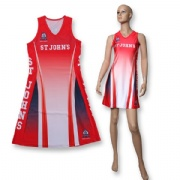 Girl Sex Sublimation Women Dresses Netball Bodysuit Jersey