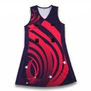Sex girls customized sublimation uniforms netball jersey dress
