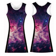 Sky Digital print sublimated netball bibs, Netball dress