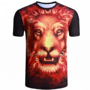 MOQ 1 PCS 3D printing Animal pattern t shirt