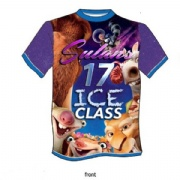 Accept sample order of kids animal O-neck t shirt with sublimated by Italy ink